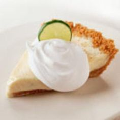 Key Lime Pie - using greek yogurt. Um, yes please.