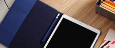 Hampton - Custom Made Genuine Leather Folio Tablet Case for Apple iPad Pro