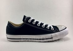 A CLASSIC CRYSTALLIZED! Style  Converse Chuck Taylor All Star Low Canvas  Colors  Black 0660b1708b