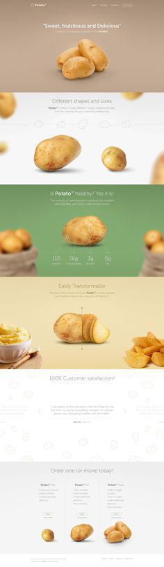 Potato Landing Page by Eldin Heric