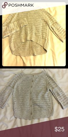 Crop top sweater w/ buttons down the back! Crop top sweater w/ buttons down the back! Anthropologie Sweaters