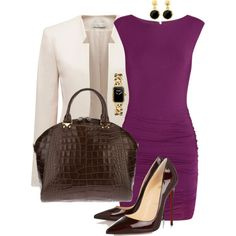 Work outfit #4 by blackqueen123 on Polyvore featuring Tart, Forever New, Christian Louboutin, Emporio Armani, Chanel and Brooks Brothers