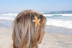 Starfish Hair Clip Mermaid Hair Really Cute & by ShepherdoftheSea, $14.00