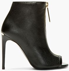 Burberry Prorsum Black Grain Leather Brooksmead Ankle Boot $825.00 #shoes #boots #heels - CLICK HERE for more: http://www.needcuteshoes.com/products/burberry-prorsum-black-grain-leather-brooksmead-ankle-boot/
