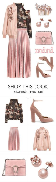"""""""Tranquility"""" by stavrolga ❤ liked on Polyvore featuring Preen, Aquazzura, Topshop, STELLA McCARTNEY, Gucci, Kate Spade, Camilla Christine, Minime and polyvoreeditorial"""