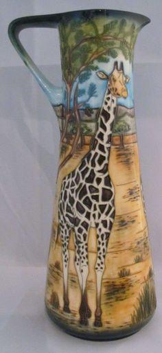 Moorcroft SHIMBA HILLS By Sian Leeper L Ed # 292 Of 300 Giraffe Date Mark 2006