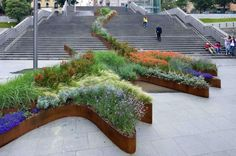 The garden that climbs the stairs, Bilbao