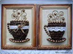 1 (520x390, 159Kb) Twine Crafts, Diy And Crafts, Crafts For Kids, Coffee Bean Art, Coffee Beans, Coffee Theme Kitchen, Coffee Crafts, Kitchen Themes, Latte Art