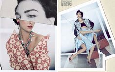 collaged fragmented photo shoot by Paulo Roversi