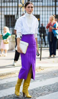 Neon skirt  | For more style inspiration visit 40plusstyle.com