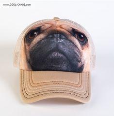 7a5257ce167 Pug Baseball Cap   Dog Trucker Hat