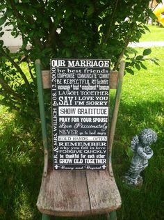 "12"" x 24"" Wedding sign...Marriage Advice...great gift for wedding or anniversary on Etsy, $30.00"
