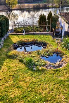 The Pool Designs For Small Garden with its small size should be enough to relax and possibly also for swimming, but at the same time leave enough space for plants, flowers, and a terrace. You can get inspiration from the following ideas and have a pool built for a small garden. #PoolDesignsForSmallGarden #PoolDesign #SmallGarden #SmallGardenDesigns #LakePoolDesigns