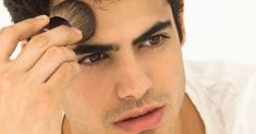 The History of Makeup for Men, From First Blush to Current Trends My first blush! Everything you need to know about makeup for men. Men Wearing Makeup, Male Makeup, Chanel Lip Balm, Green Eyeshadow, War Paint, Male Beauty, Best Makeup Products, Concealer, Eyebrows