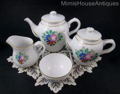 "17pc Breakfast Set ""Tete A Tete"" Egg Cups Muffin Dish Tea Set Vista Alegre | eBay"