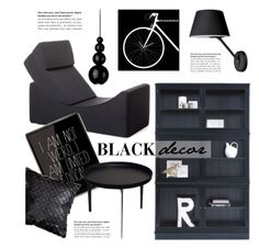 """Black Home Decor"" by lovethesign-eu ❤ liked on Polyvore featuring interior, interiors, interior design, home, home decor, interior decorating, Covo, black, Home and homedecor"