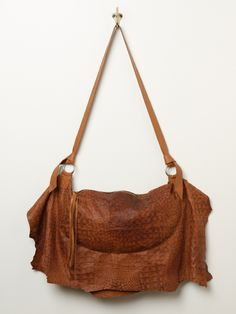 Free People Wild One Leather Hobo