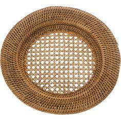 Kouboo La Jolla Round Rattan Charger Plate & Reviews | Wayfair