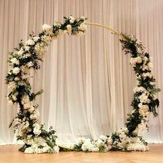 Ideas For Flowers Wedding Aisle Backdrops Wedding Stage Decorations, Backdrop Decorations, Backdrops, Floral Wedding, Rustic Wedding, Wedding Flowers, Wedding Bride, Wedding Dress, Wedding Venues