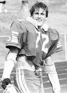 Jon Hamm pictured in high school as a football player in Ladue, Missouri