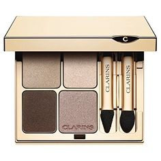 Clarins Eye Quartet Mineral Eyeshadow Palette - Pack of 6 Four perfectly coordinated silky shades which can be worn alone or blended together. Presented  Read more http://cosmeticcastle.net/clarins-eye-quartet-mineral-eyeshadow-palette-pack-of-6/  Visit http://cosmeticcastle.net to read cosmetic reviews