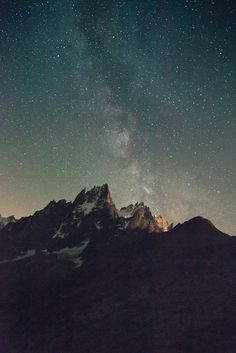 Milky Way over the mountain Beautiful World, Beautiful Places, Beautiful Pictures, Beautiful Sky, Sky Full Of Stars, Chamonix, Jolie Photo, To Infinity And Beyond, Adventure Is Out There