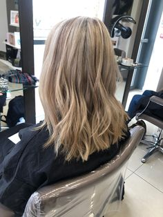 Highlights. Mid Length Hair. Wavy Hair. Waves. Mid Length Hair, Wavy Hair, Hair Lengths, Chelsea, Highlights, Stylists, Waves, Long Hair Styles, Beauty