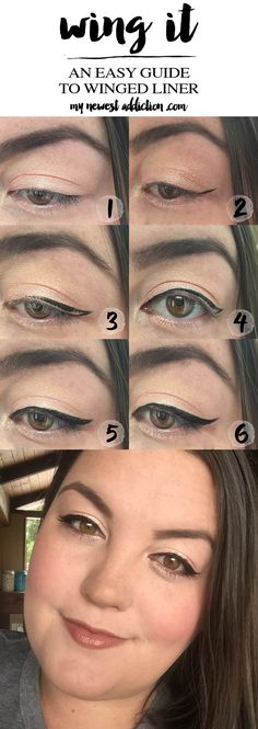 Winged Eyeliner Tutorial using Make Up For Ever Graphic Liner - My Newest Addiction