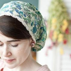The young gal's at Garlands of Grace create ever so lovely headcoverings for Christian women who wish to cover their heads.
