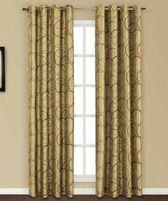 Look at this #zulilyfind! Apple Sinclair Curtain Panel #zulilyfinds