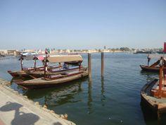 Abra waar de Dubai Creek mee overgestoken wordt