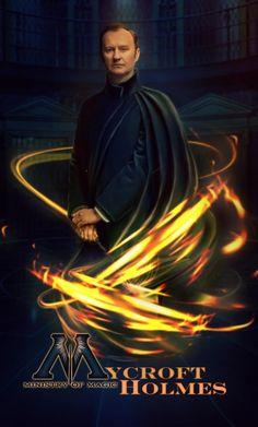 "WTF Mystrade 2018 - ""Министр магии"" (авт. Futbolerka) Mycroft Holmes, Moriarty, Johnlock, Holmes Brothers, Sherlock Cast, Mark Gatiss, Movie Memes, Benedict Cumberbatch, Favorite Tv Shows"
