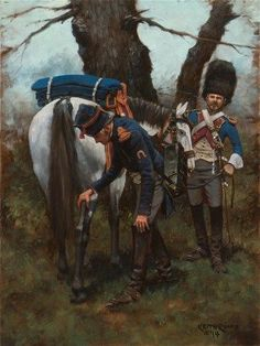Farrier and Trumpeter, Horse Grenadiers of the Guard- Waterloo 1815, by Keith Rocco