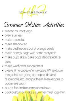 Summer Solstice (Litha/Midsummer) Celebration Ideas for Families – Home Life and Family<br> Mabon, Samhain, Summer Solstice Ritual, Winter Solstice, Beltane, Wiccan Sabbats, Midsummer's Eve, Shadow Art, Happy Summer