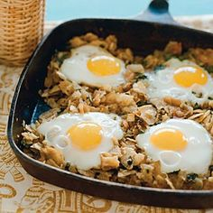 This recipe never fails to enchant anyone who makes it. Have it for breakfast, lunch, or dinner. Prep and Cook Time: about 30 minutes. Notes: Use best-quality potato chips—medium-thick and not too brown (otherwise the dish will taste burned).