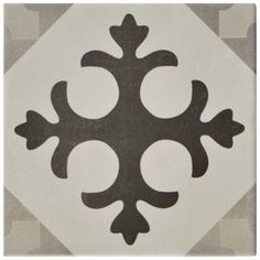 SomerTile 5.875x5.875-inch Guild Gris Latin Ceramic Floor and Wall Tile (22/Case, 5.5 sqft.) - Free Shipping Today - Overstock.com - 19912455 - Mobile