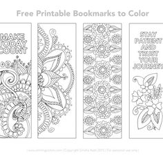 coloring pages - Free Printable Bookmarks to color Smitha Katti Free Printable Bookmarks, Bookmark Template, Printable Calendar Template, Templates Printable Free, Printable Cards, Free Printables, How To Make Bookmarks, Bookmarks To Color, Bible Bookmark