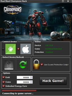 Real Steel Champions Hack 2018 Download. If you want to hack Real Steel Champions, you are in the right place. HacksUpdate team has developed a new tool for this awesome game. The fighting robots are back in this sequel Real Steel World Robot Boxing. Build your own robot champion and dominate the arenas. Is just one way to succeed in this game: build the.