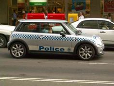 New South Wales State Police: Mini Cooper being used as a special Highway Patrol unit. Swat Police, Police Cars, Police Vehicles, Emergency Vehicles, Victoria Police, Luxury Rv, Car Badges, Mini Coopers, Auto Service