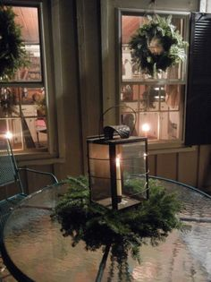 **For the deck this year!  Doing more than just lights!!!!  Love the idea of wreaths on out back windows , too!