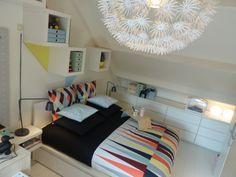MALM ladekast MALM bedframe | #IKEA #DagRommel #bed #slaapkamer #grafisch