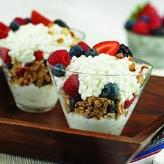 Cottage Cheese (the perfect snack)    Top your fat free cottage cheese with fresh straberries and blueberries    My favourite is to mix it with grated apple and cinnamon and top with a bit of granola.