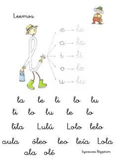 Fichas lectura l http://elbloggdeelena.blogspot.com.es/2012/07/fichas-de-lectura-letrilandia.html