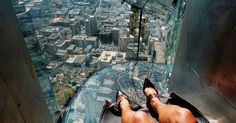 Are you afraid of heights? If so, downtown Los Angeles' newest tourist attraction will definitely make your heart beat faster.   L.A.'s U.S. Bank building has added a cool new addition: The Skyslide. The Los Angeles Times is reporting that the Skyslide cost $3.5 million to make and currently