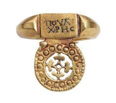 Roman ring with greek inscription. Les Enluminures