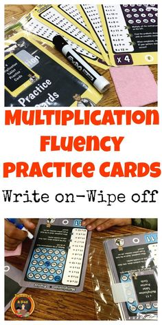 I developed these multiplication practice cards to help students gain fluency with the multiplication facts. They are printed out, laminated and trimmed. The student uses a dry erase marker to find the products for a specific table. 5 cards for each ta Learning Multiplication Facts, Math Facts, Teaching Math, Math Resources, Math Activities, Fourth Grade Math, Third Grade, Grade 3, Math Classroom