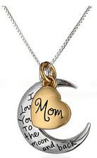 Fashion New Jewelry I Love You To The Moon And Back Necklace Pendant Chain Gift