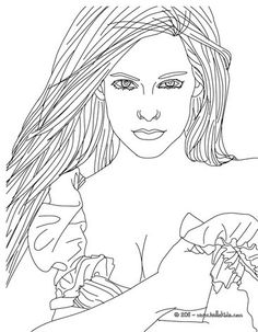 Beautiful Avril Lavigne coloring page. More Avril Lavigne coloring pages on hellokids.com