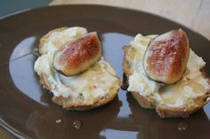 Fig and ricotta canapes, with an easy homemade ricotta recipe