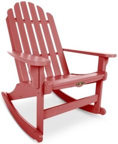 Essentials Adirondack Rocking Chair, Quick Ship - Red